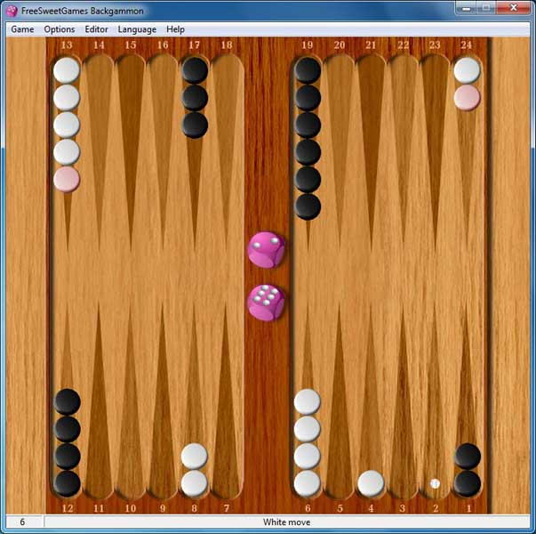 Click to view FreeSweetGames Backgammon 2.2.40 screenshot