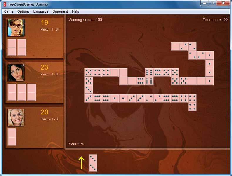 Click to view FreeSweetGames Domino 1.2.40 screenshot