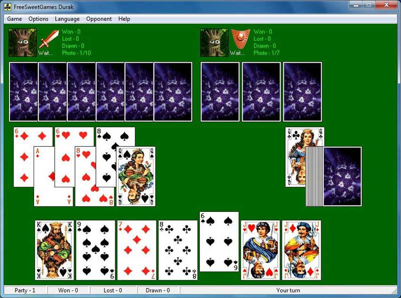 Click to view FreeSweetGames Durak 3.1.40 screenshot