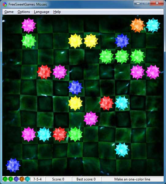 Click to view FreeSweetGames Mosaic 3.2.40 screenshot