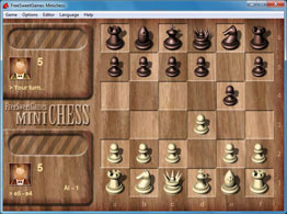 Screenshot of the logic MiniChess