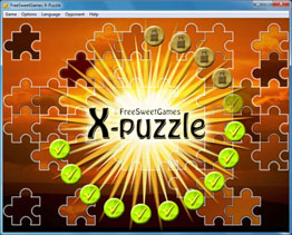 Screenshot of the erotic X-Puzzle